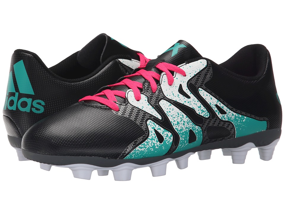 adidas - X 15.4 FxG (Black/Shock Mint/White) Men's Soccer Shoes