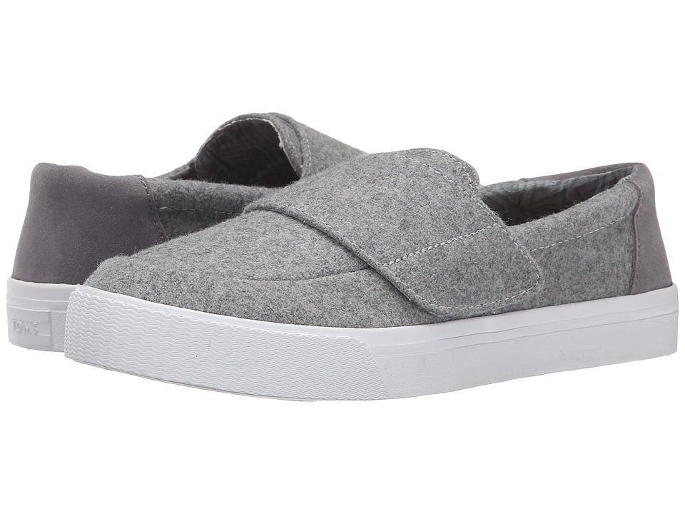 TOMS - Altair Slip-On (Grey Felt Suede) Women's Slip on Shoes