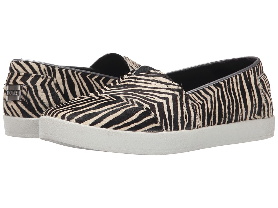 TOMS - Avalon Sneaker (Zebra Printed Calf Hair) Women's Slip on Shoes