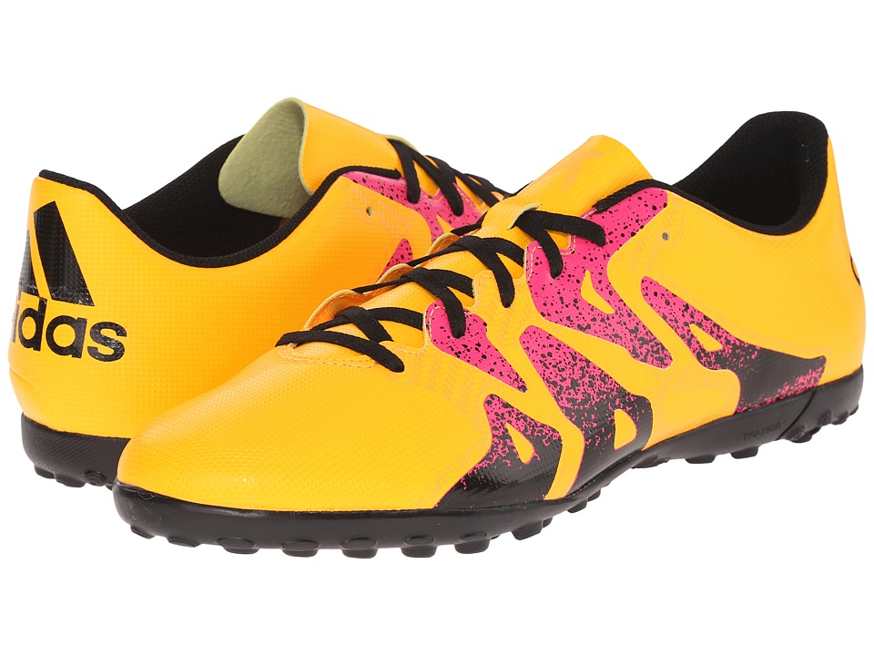 adidas - X 15.4 TF (Solar Gold/Black/Shock Pink) Men's Soccer Shoes