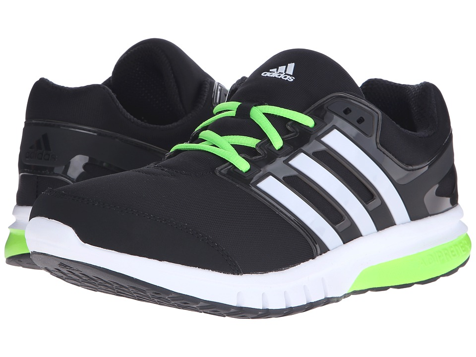 adidas Running - Galaxy Elite 2 (Black/White/Solar Green) Men's Running Shoes