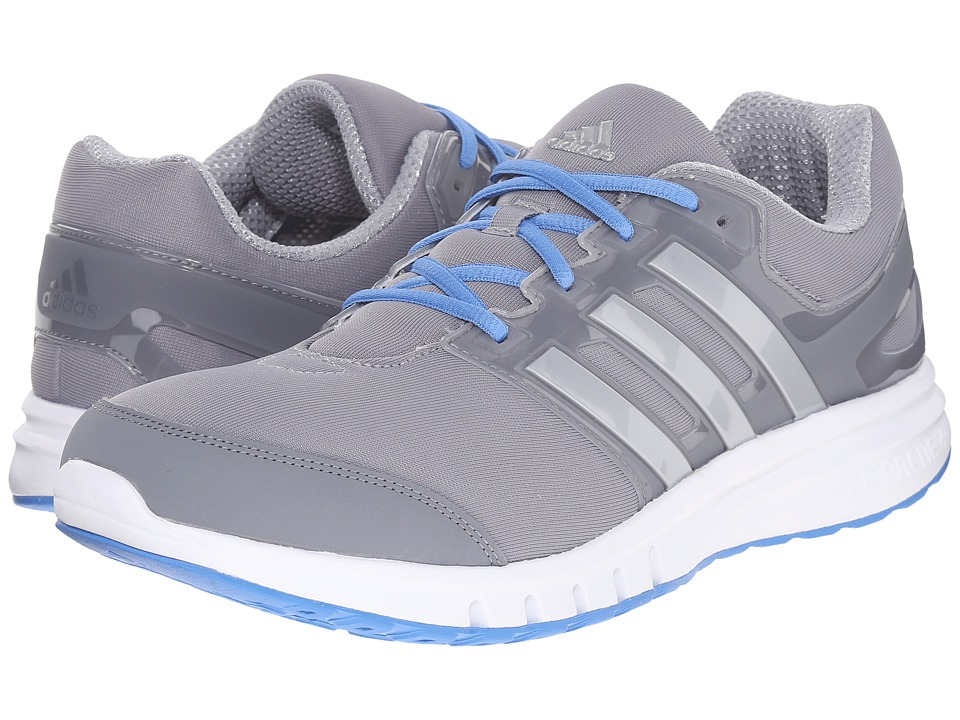 adidas - Galaxy Elite 2 (Mid Grey/Silver Metallic/Super Blue) Men's Running Shoes
