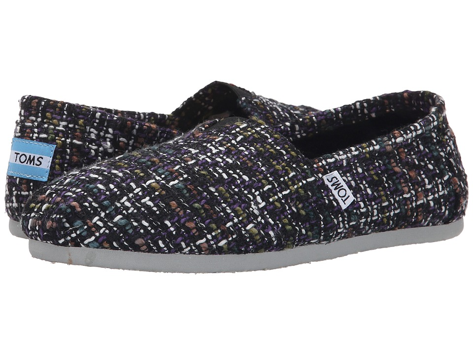 TOMS - Seasonal Classics (Dark Blue Mix Boucle) Women's Slip on Shoes