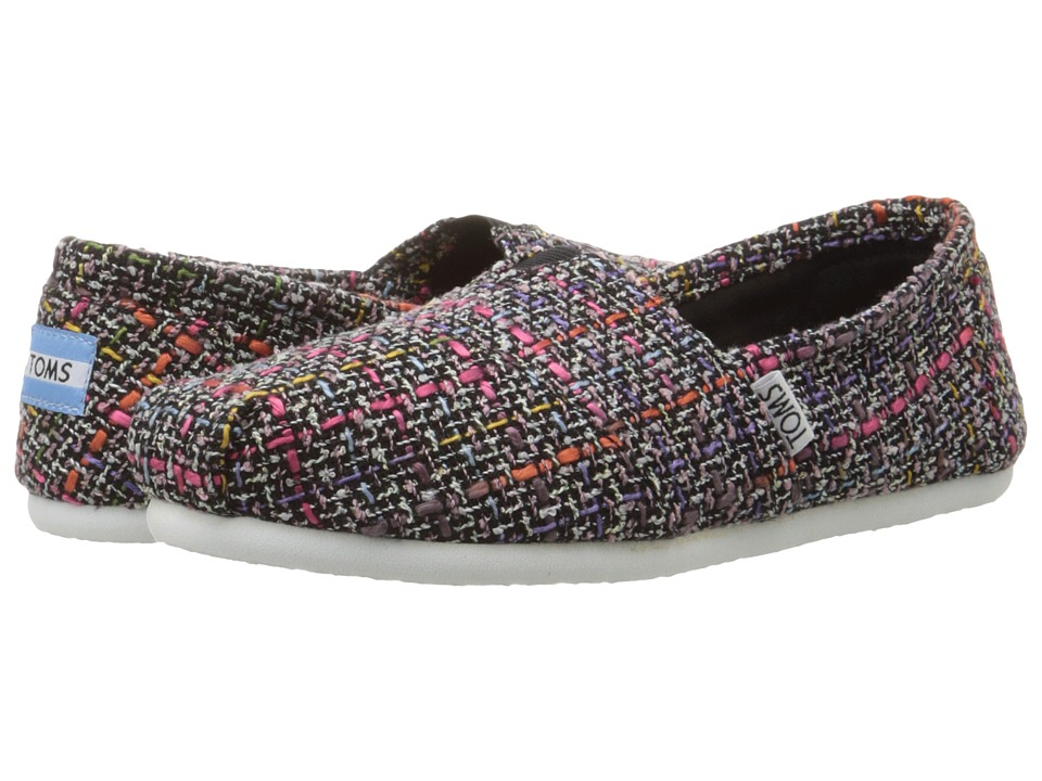 TOMS - Seasonal Classics (Black Pink Mix Boucle) Women's Slip on Shoes