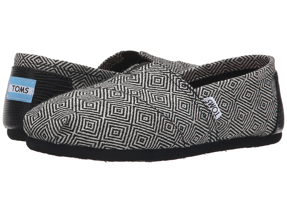 TOMS - Seasonal Classics (Black Diamond Wool) Women's Slip on Shoes