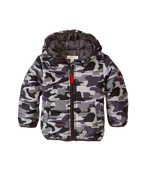 Pumpkin Patch Kids - Street Warrior Camo Printed Padded Jacket (Infant/Toddler/Little Kids) (Licorice) Boy's Coat