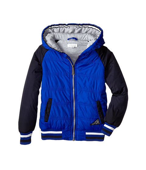 Pumpkin Patch Kids - Wheel Life Quilted Nylon Baseball Jacket (Little Kids/Big Kids) (Electric Blue) Boy's Coat