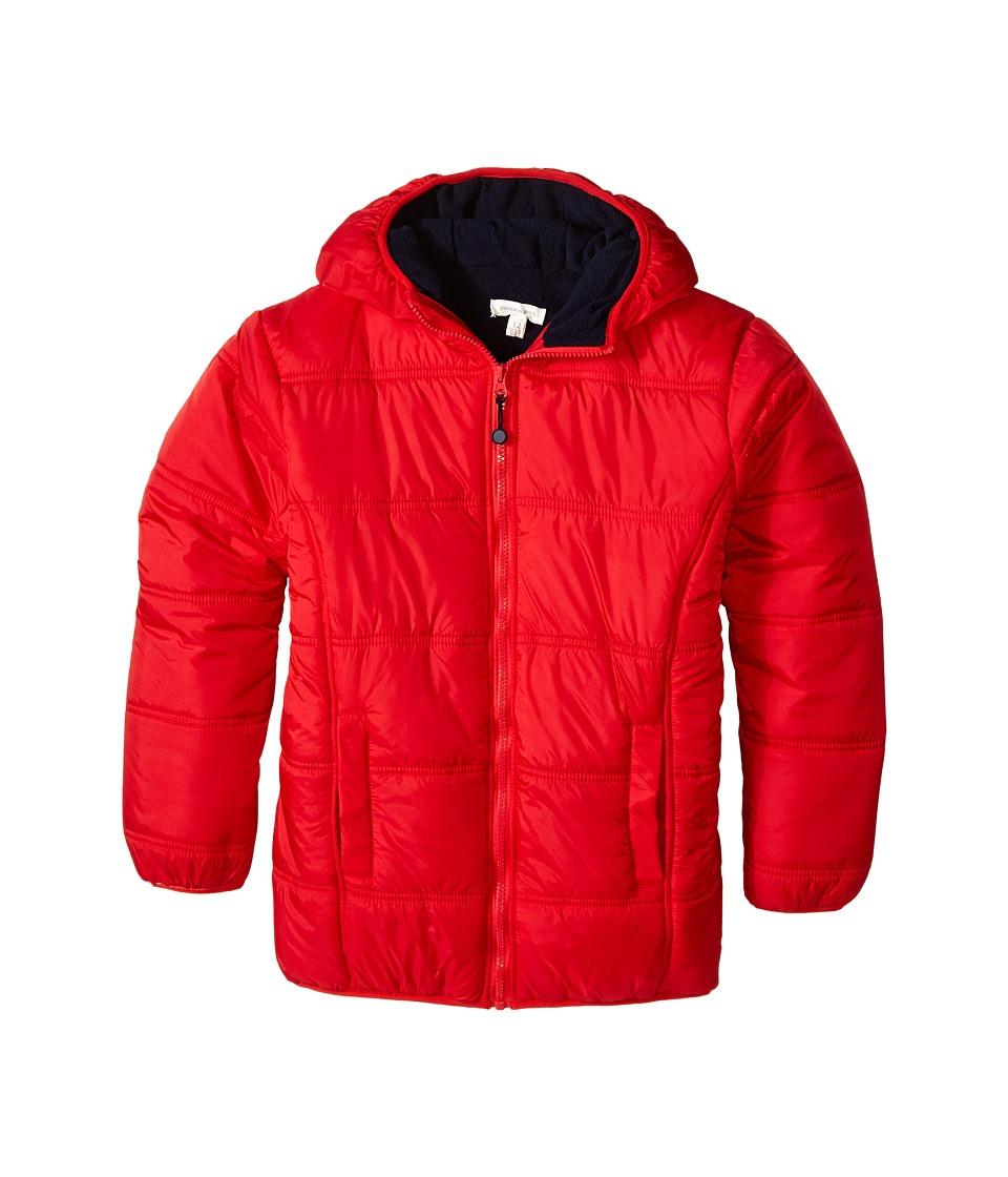 Pumpkin Patch Kids - Core Essentials Zip Thru Puffer Jacket (Infant/Toddler/Little Kids/Big Kids) (Blazing Red) Boy's Coat