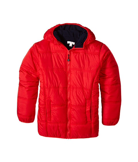 Pumpkin Patch Kids - Core Essentials Zip Thru Puffer Jacket (Infant/Toddler/Little Kids/Big Kids) (Blazing Red) Boy