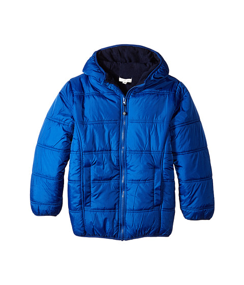 Pumpkin Patch Kids - Core Essentials Zip Thru Puffer Jacket (Infant/Toddler/Little Kids/Big Kids) (Blue Spectrum) Boy