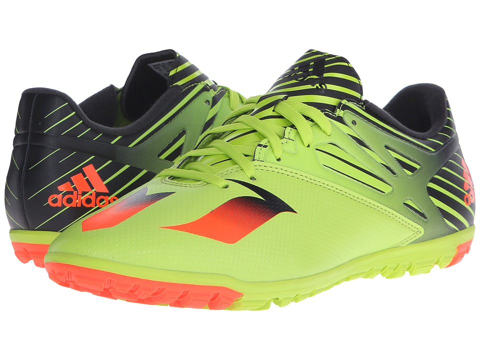 adidas - Messi 15.3 TF (Semi Solar Slime/Solar Red/Black) Men's Shoes