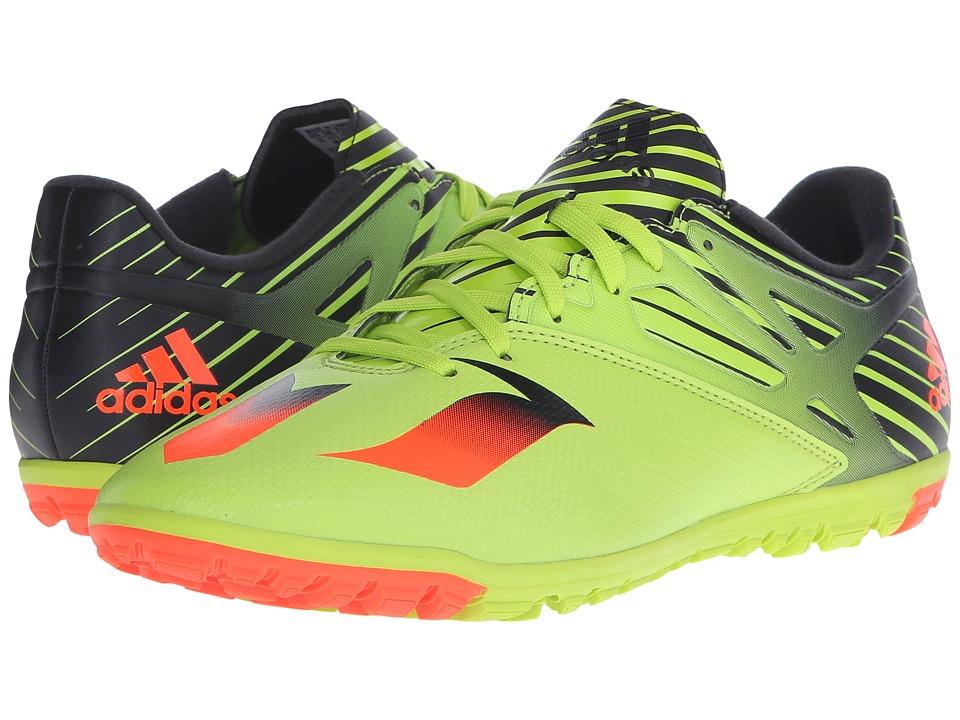 adidas - Messi 15.3 TF (Semi Solar Slime/Solar Red/Black) Men's Shoes