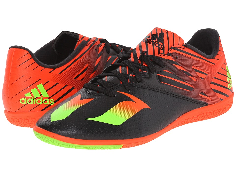 adidas - Messi 15.3 IN (Black/Solar Green/Solar Red) Men's Shoes