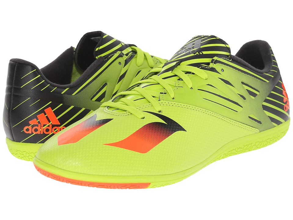 adidas - Messi 15.3 IN (Semi Solar Slime/Solar Red/Black) Men's Shoes