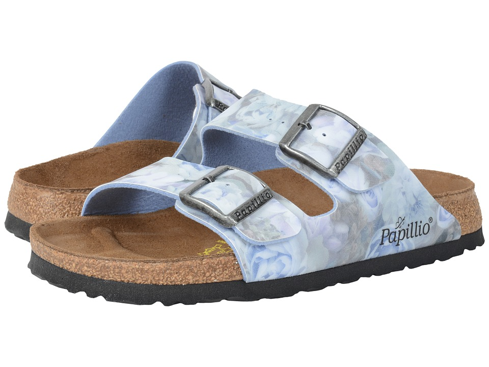 Birkenstock Arizona (Silky Rose Blue Birko-Flor ) Women
