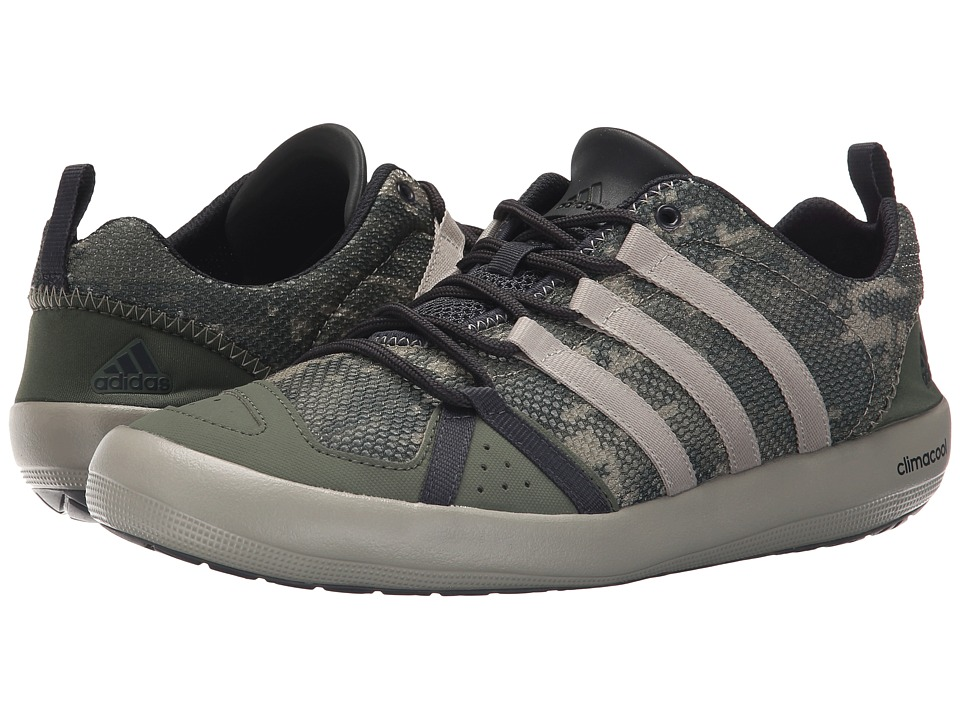 adidas Outdoor - Climacool Boat Lace (Base Green/Tech Beige/Dark Grey - Camo Print) Men