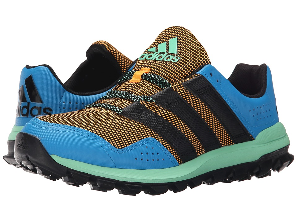 adidas Running - Slingshot Trail (Solid Gold/Solar Blue2/Green Glow) Men's Shoes