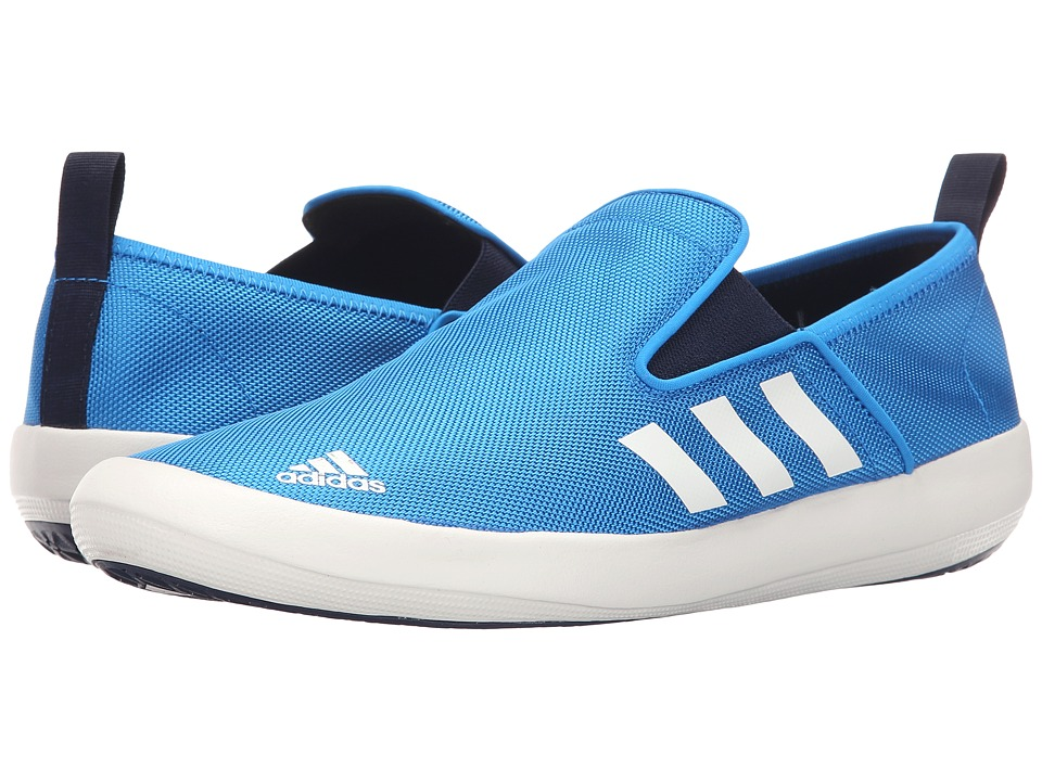 adidas Outdoor - B Slip-On DLX (Shock Blue/White/Collegiate Navy) Men's Shoes