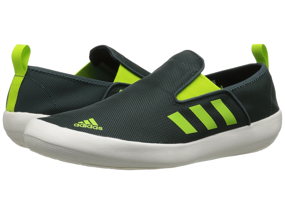 adidas Outdoor - B Slip-On DLX (Mineral Green/Semi Solar Slime/White) Men's Shoes