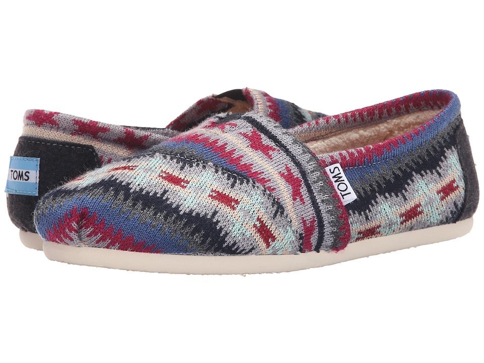 TOMS - Seasonal Classics (Multi Knit Shearling) Women's Slip on Shoes