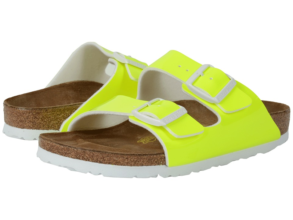 Birkenstock - Arizona (Neon Yellow Patent Birko-Flor ) Women's Dress Sandals