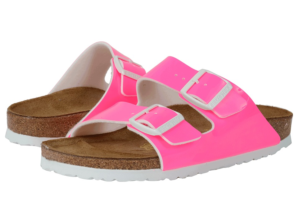 Birkenstock - Arizona (Neon Pink Patent Birko-Flor ) Women's Dress Sandals
