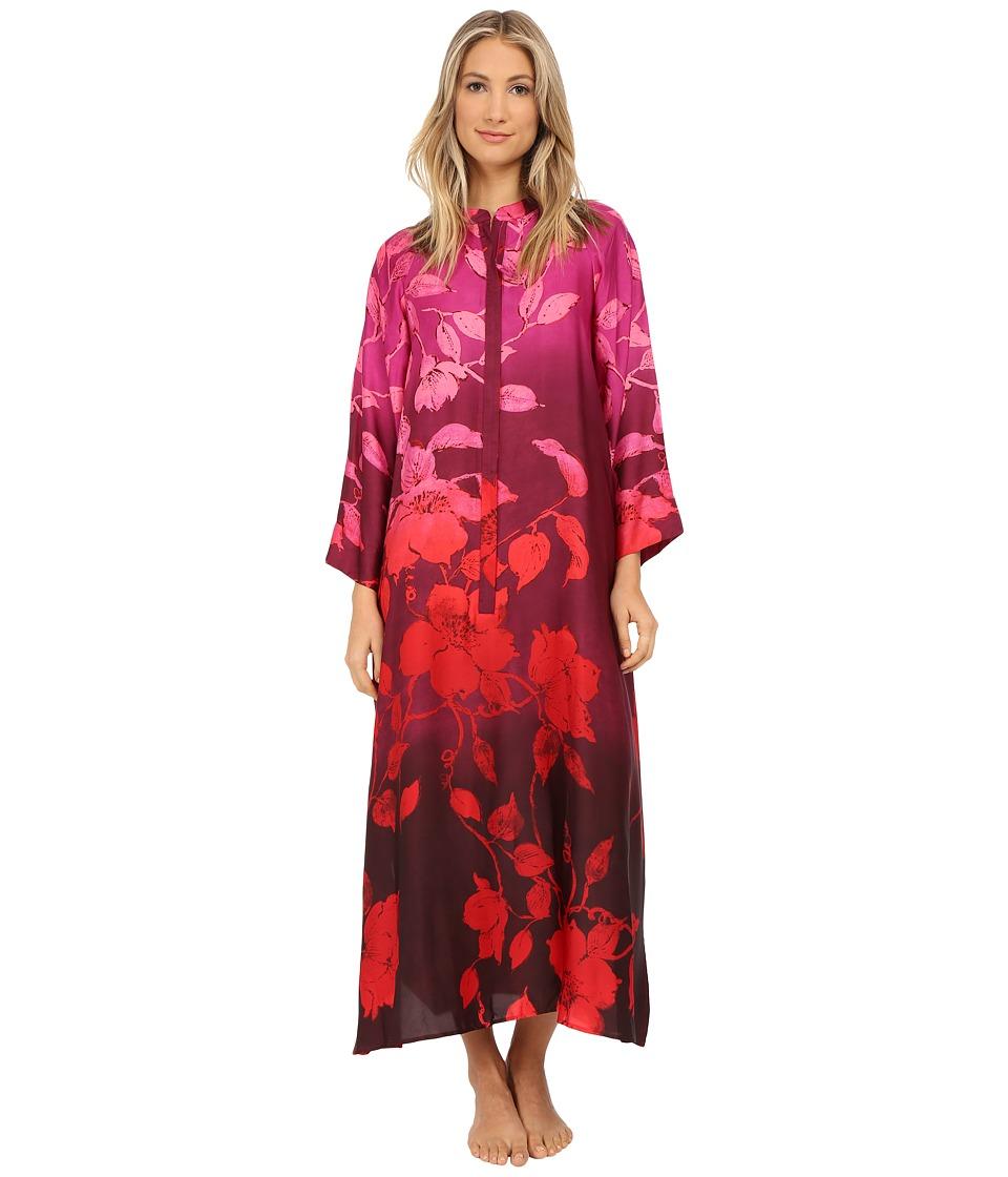 Natori - Sophia Zip Caftan (Multi) Women's Pajama