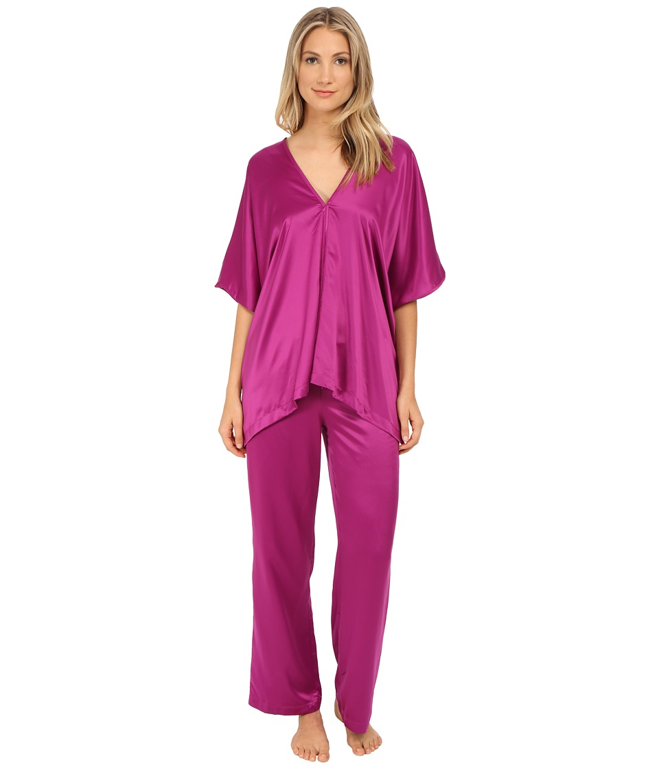 Natori - Charmeuse Tunic Pajama Set (Petunia) Women's Pajama Sets