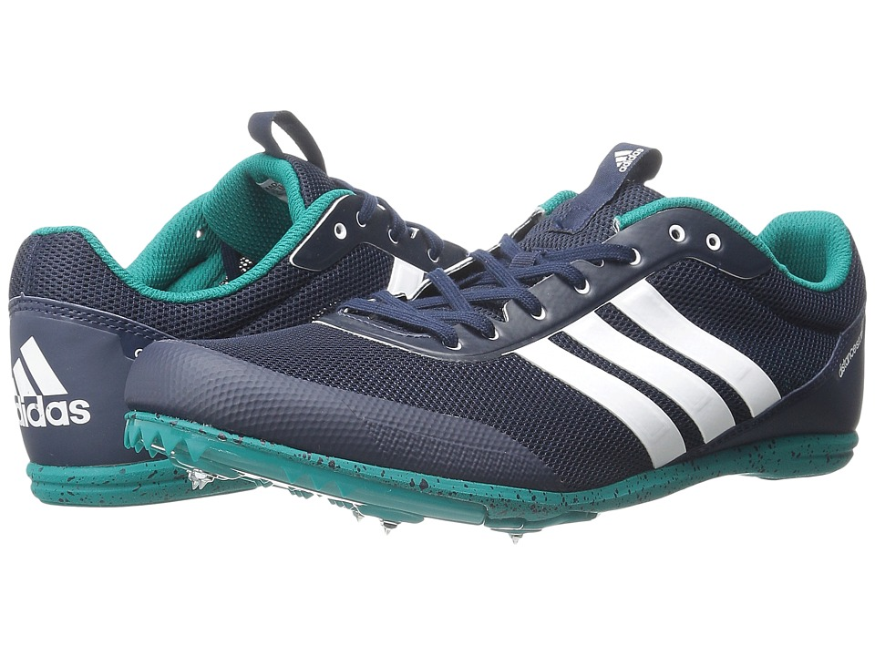 adidas - Distancestar (Collegiate Navy/White/EQT Green) Men's Cleated Shoes