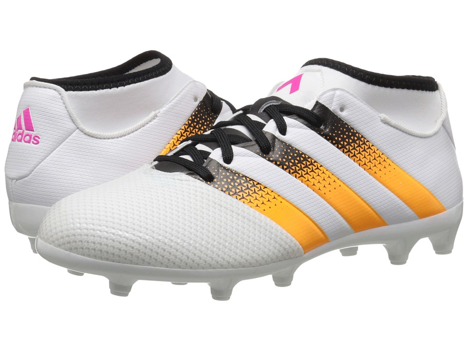 adidas - Ace 16.3 Primemesh FG/AG W (White/Solar Gold/Black) Women's Cleated Shoes