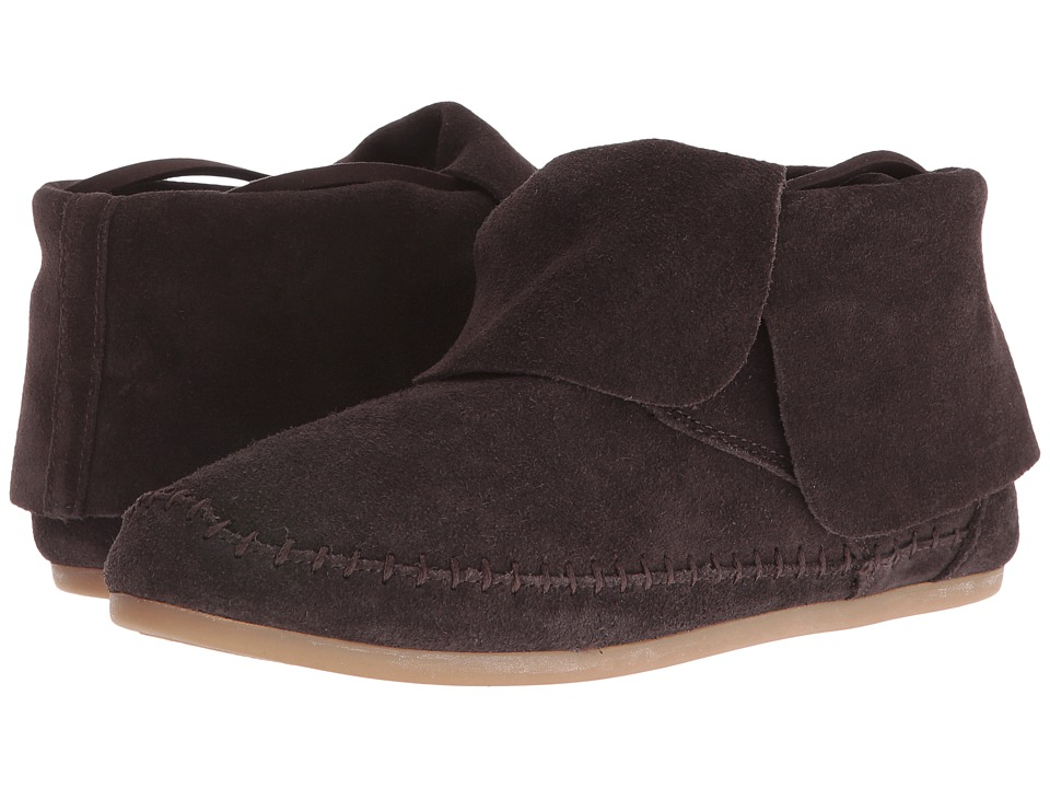 TOMS - Zahara Bootie (Chocolate Brown Suede) Women's Slip on Shoes