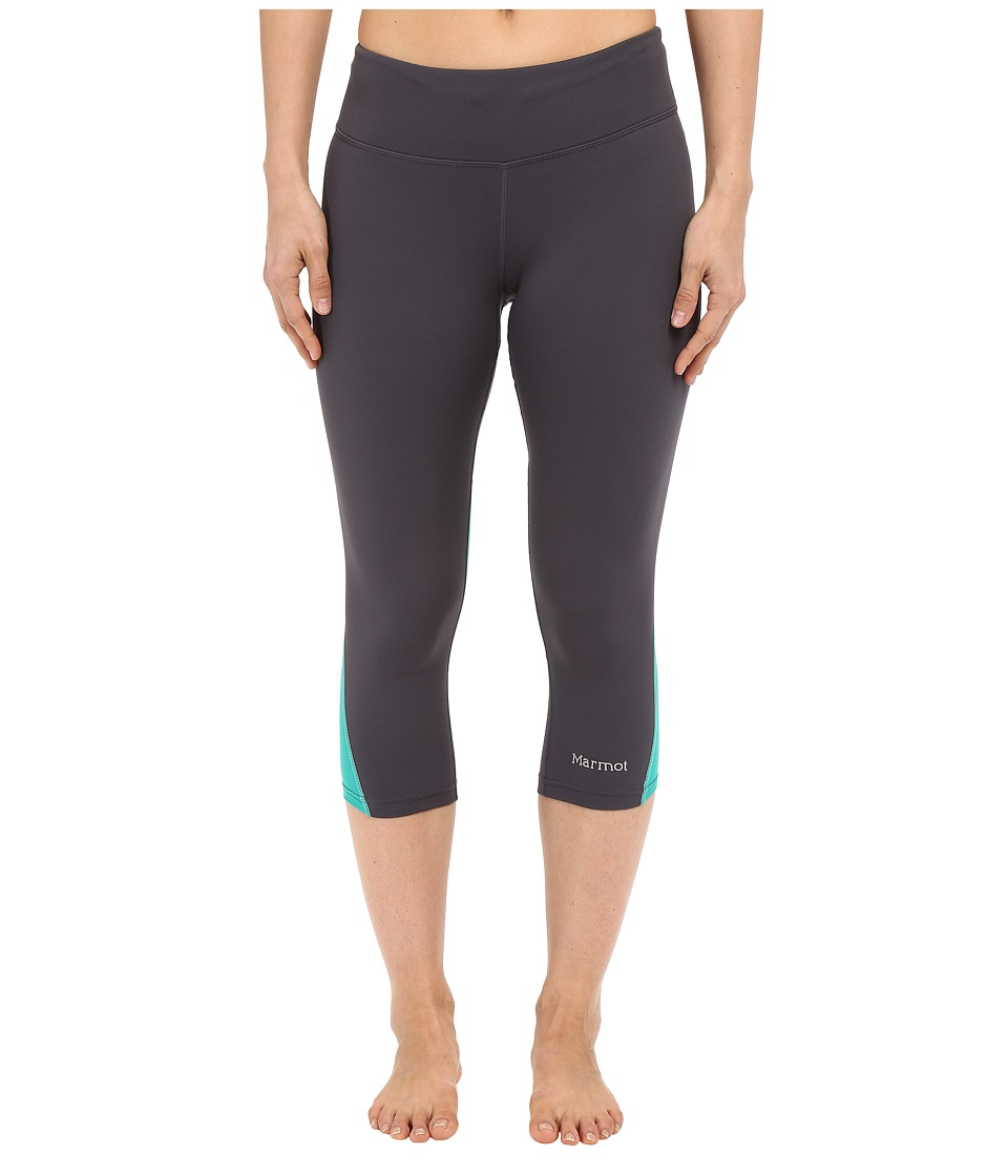 Marmot - Interval Capri (Dark Steel/Gem Green) Women's Capri