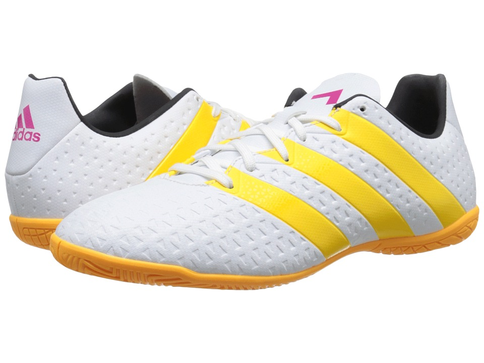adidas - Ace 16.4 IN W (White/Solar Gold/Shock Blue) Women's Soccer Shoes