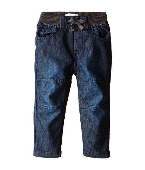 Pumpkin Patch Kids - Rib Waist Knee Panel Denim Jeans (Infant/Toddler/Little Kids) (Indigo Denim) Boy's Clothing