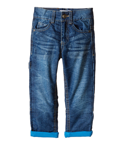 Pumpkin Patch Kids - Wheel Life Indigo Denim Jeans with Jersey Lining (Infant/Toddler/Little Kids) (Blue Denim) Boy