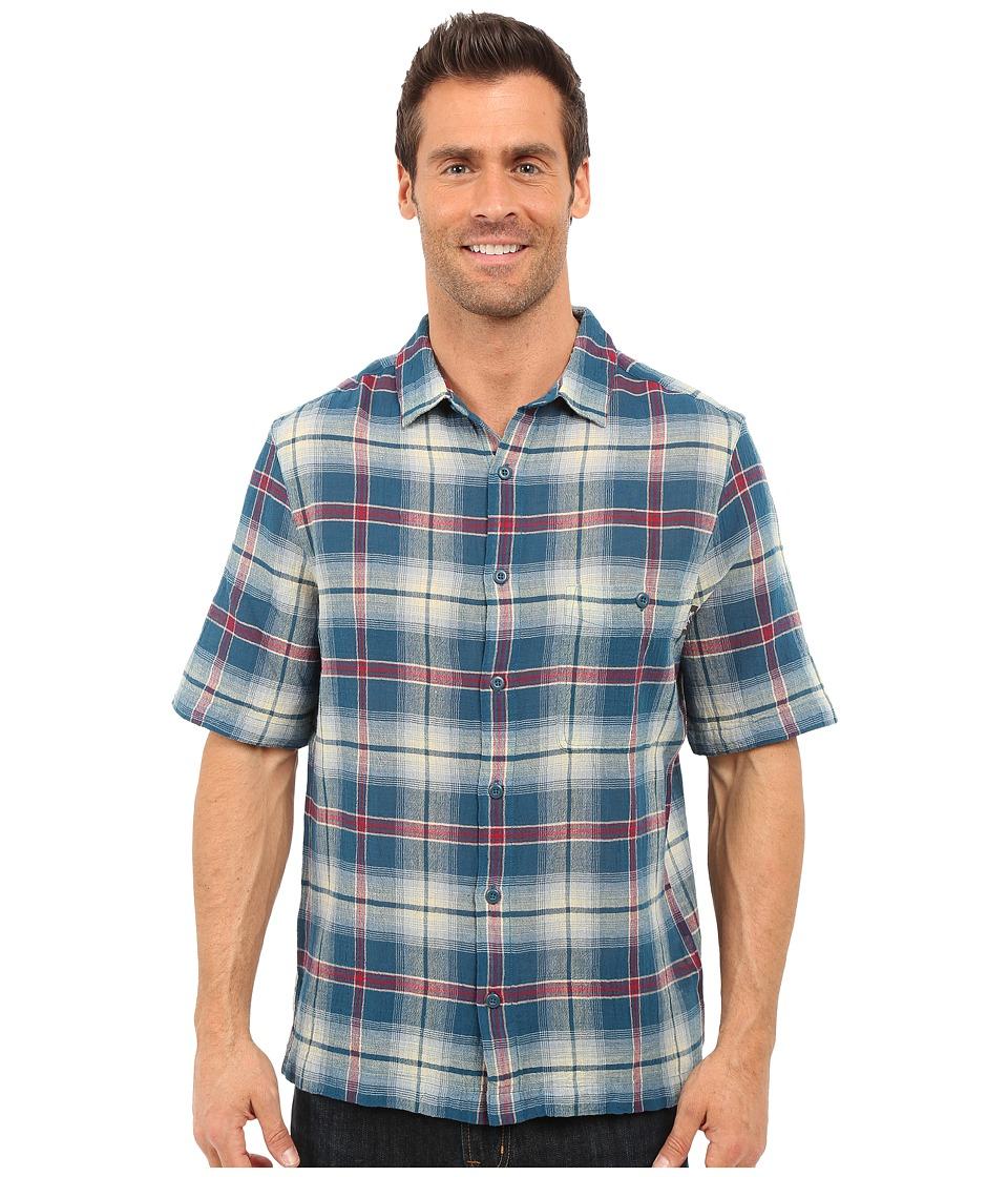 Woolrich - Chill Out Shirt (Nordic Blue) Men's Short Sleeve Button Up
