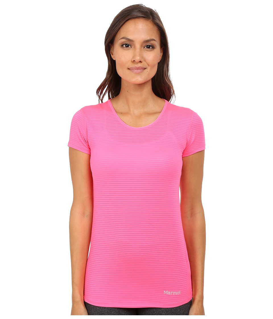 Marmot - Aero Short Sleeve (Kinetic Pink) Women's T Shirt