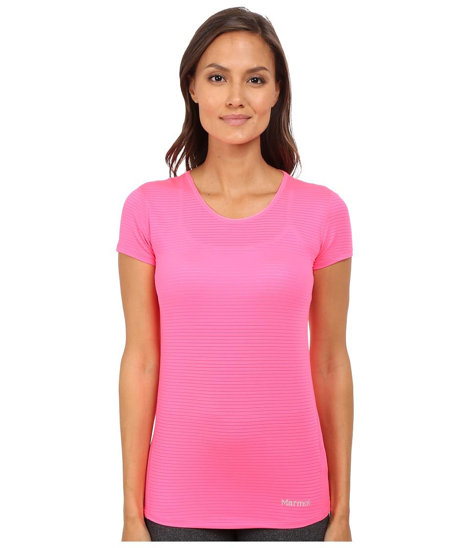 Marmot - Aero Short Sleeve (Kinetic Pink) Women's T Shirt