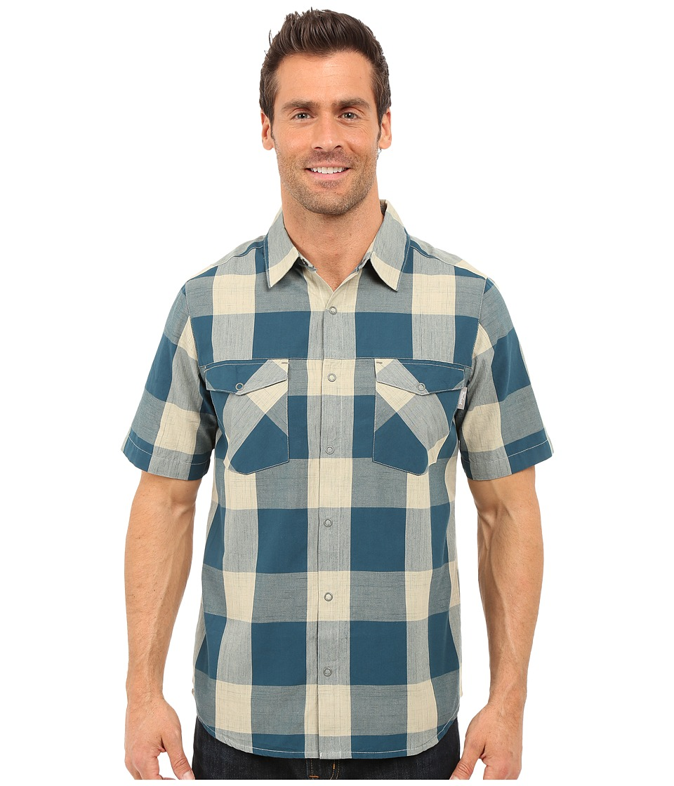 Woolrich - Zephyr Ridge Space Dye Shirt (Nordic Blue) Men's Short Sleeve Button Up