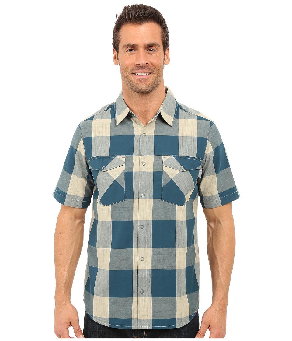 Woolrich - Zephyr Ridge Space Dye Shirt (Nordic Blue) Men's Short Sleeve Button Up