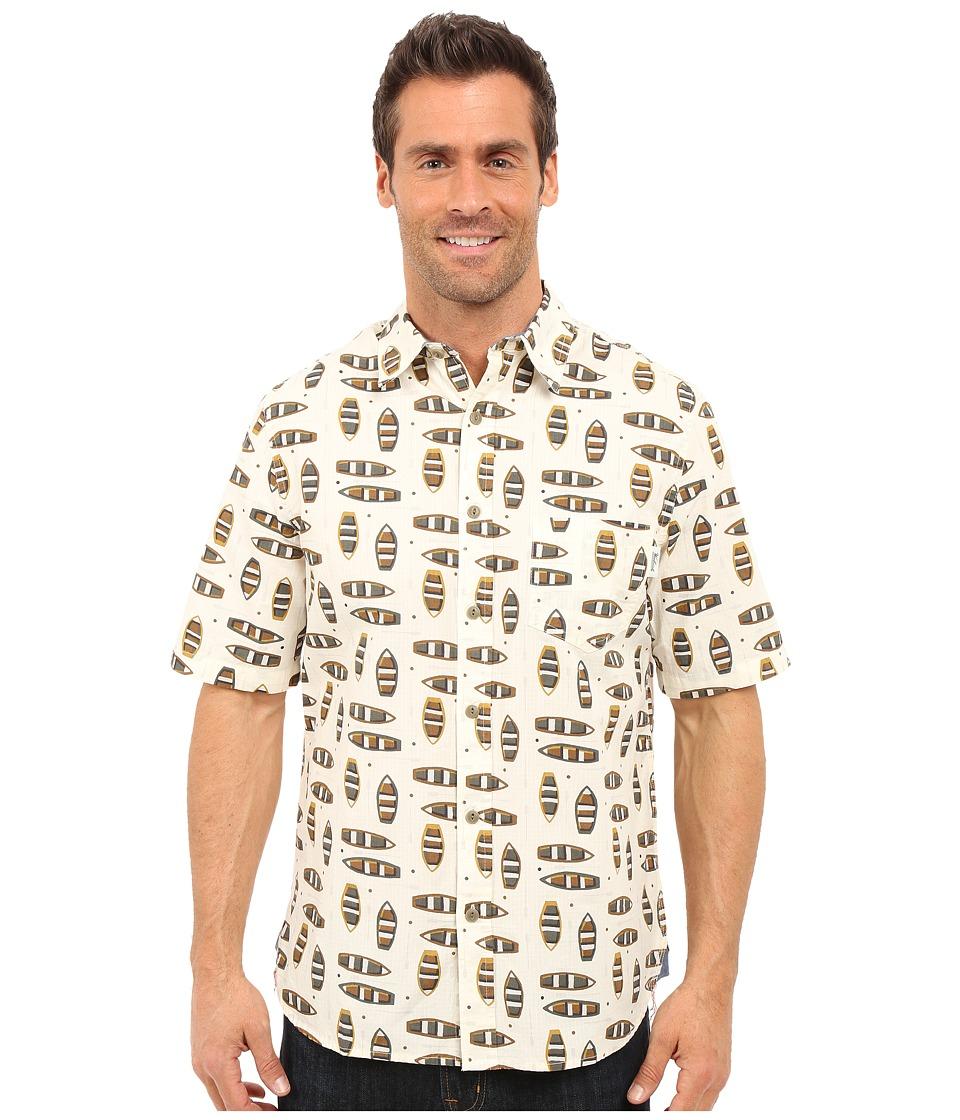 Woolrich - Reissued Printed Shirt (Wool Cream) Men's Short Sleeve Button Up