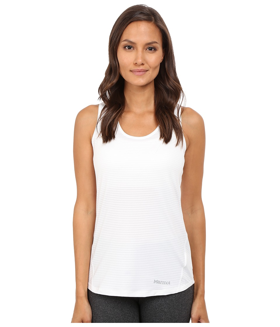 Marmot - Aero Tank Top (White) Women's Sleeveless