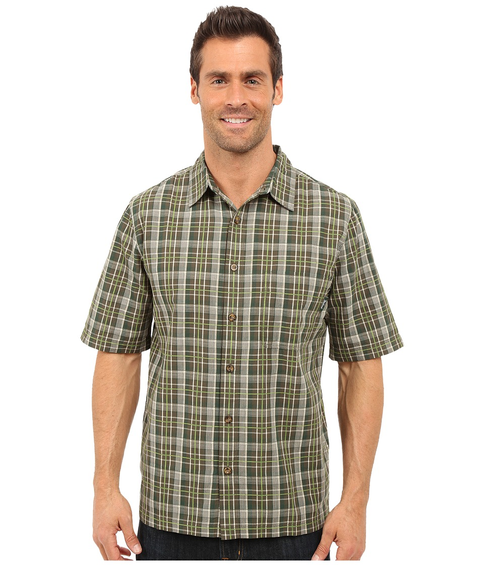 Woolrich - Overlook Dobby Shirt (Olive) Men's Short Sleeve Button Up