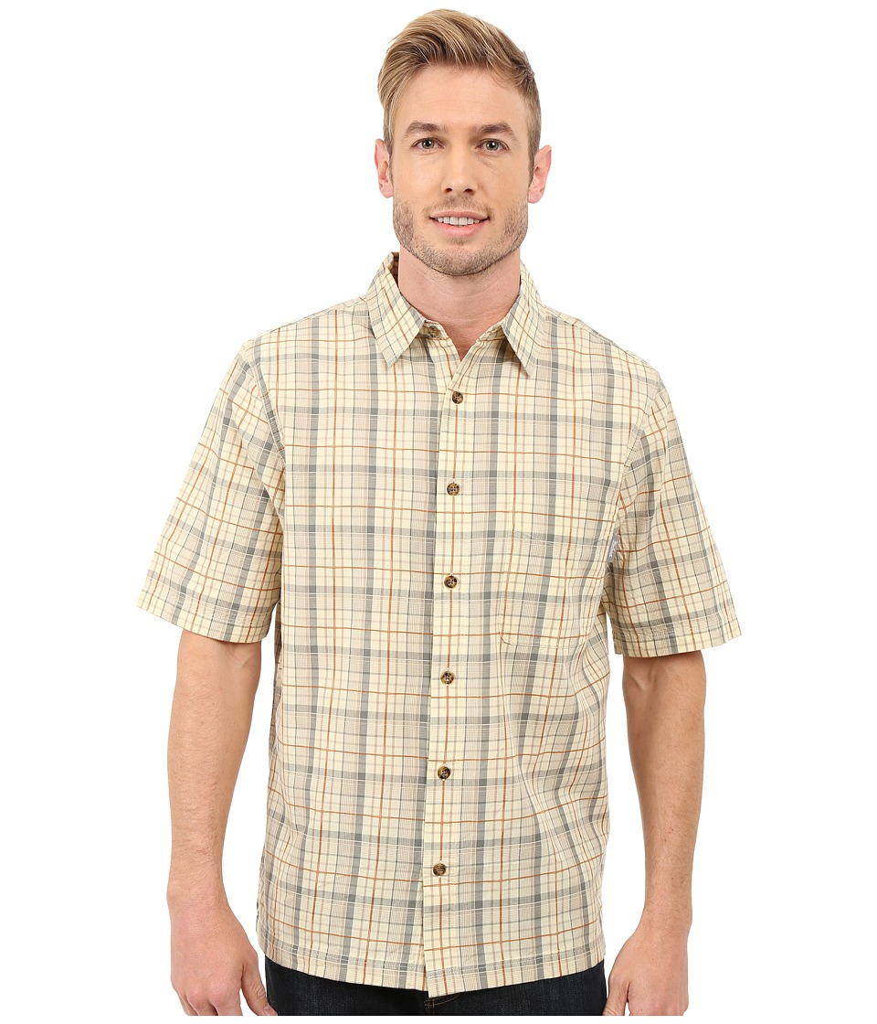 Woolrich - Overlook Dobby Shirt (Vanilla) Men's Short Sleeve Button Up