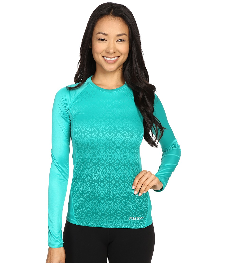Marmot - Crystal Long Sleeve (Gem Green) Women's Long Sleeve Pullover