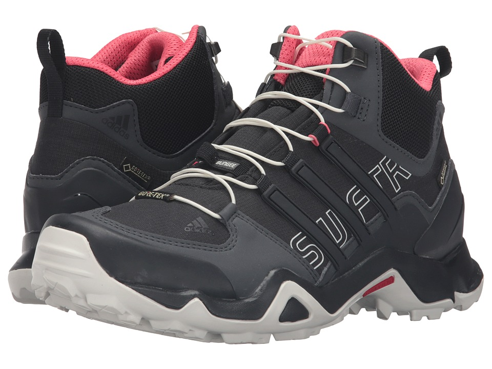 adidas Outdoor - Terrex Swift R Mid GTX (Dark Grey/Black/Super Blush) Women's Shoes