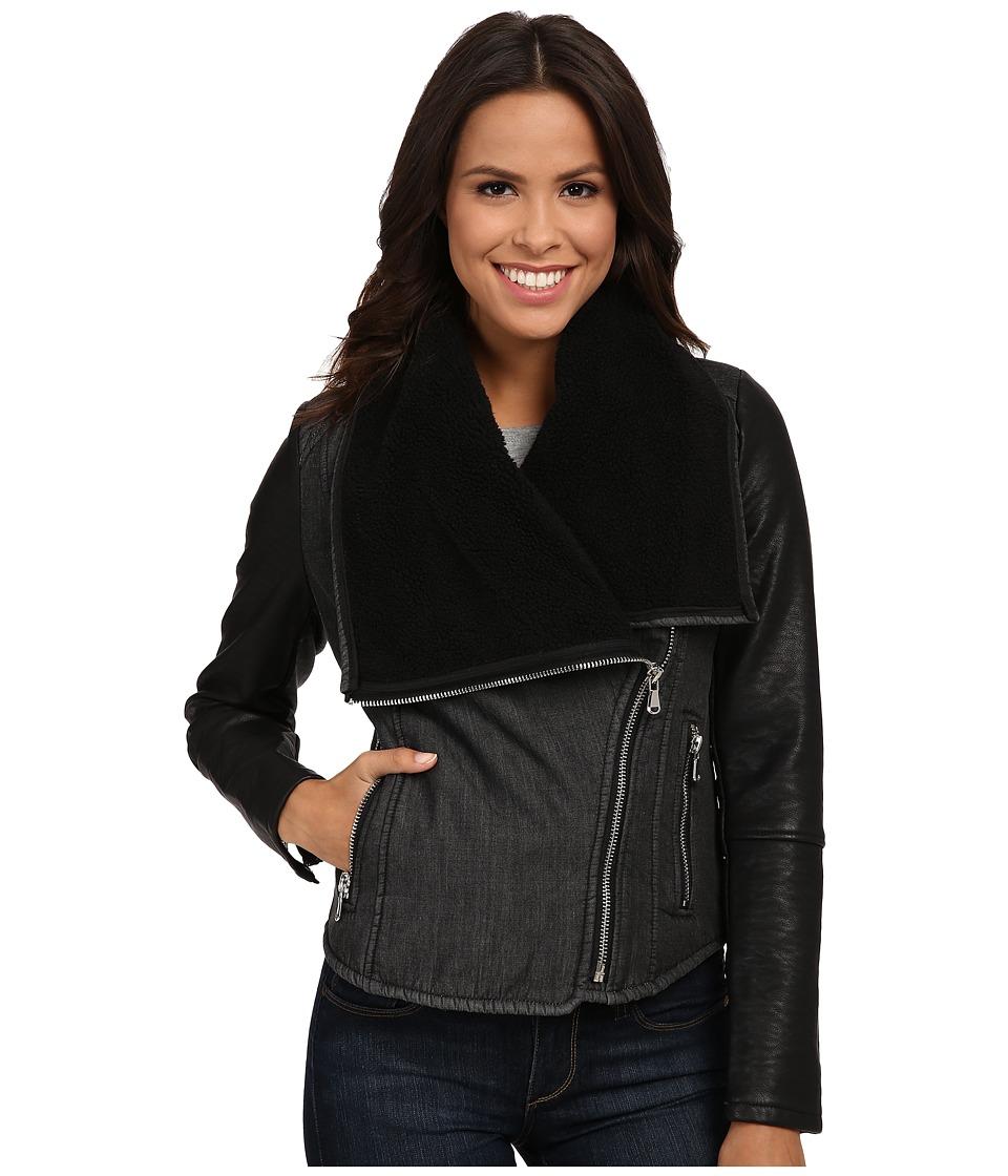 Blank NYC - Faux Sherpa Denim Jacket in Bodylapse (Bodylapse) Women's Jacket
