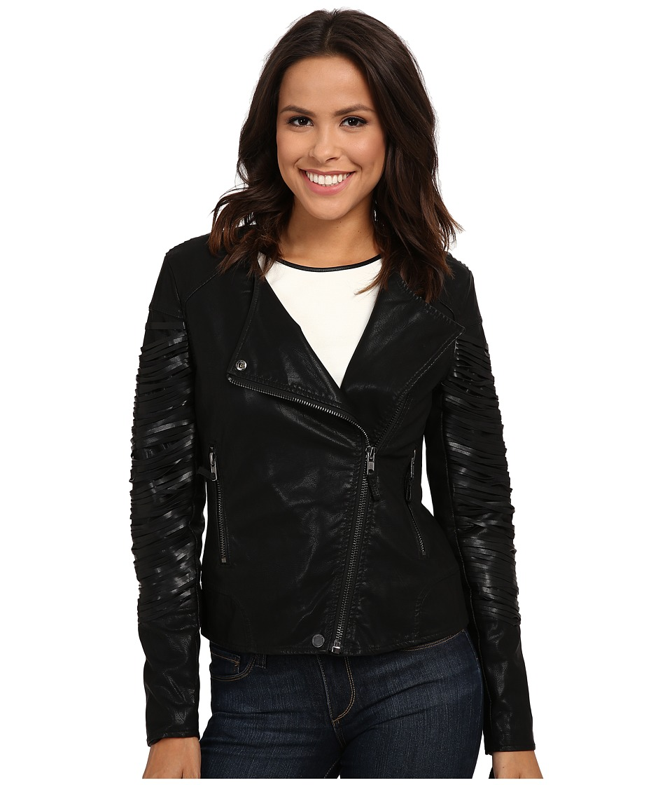 Blank NYC - Vegan Leather Moto Jacket (Kiss and Tell) Women's Jacket