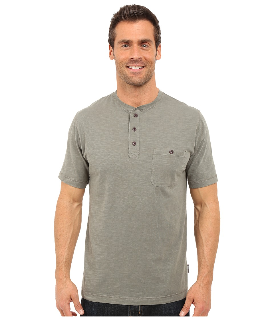 Woolrich - Sunstone Henley (Field Gray) Men's Short Sleeve Pullover
