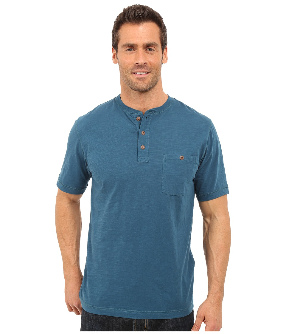Woolrich - Sunstone Henley (Nordic Blue) Men's Short Sleeve Pullover